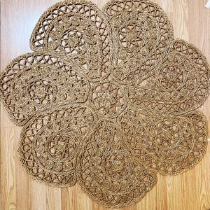 GUC Braided Jute Natural Area Rug